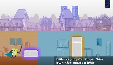 Jeu mobile destiné aux enfants sur le thème de la sensibilisation à la consommation d'énergie