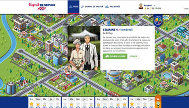 Esprit de Service, serious game on Customer Service for AXA
