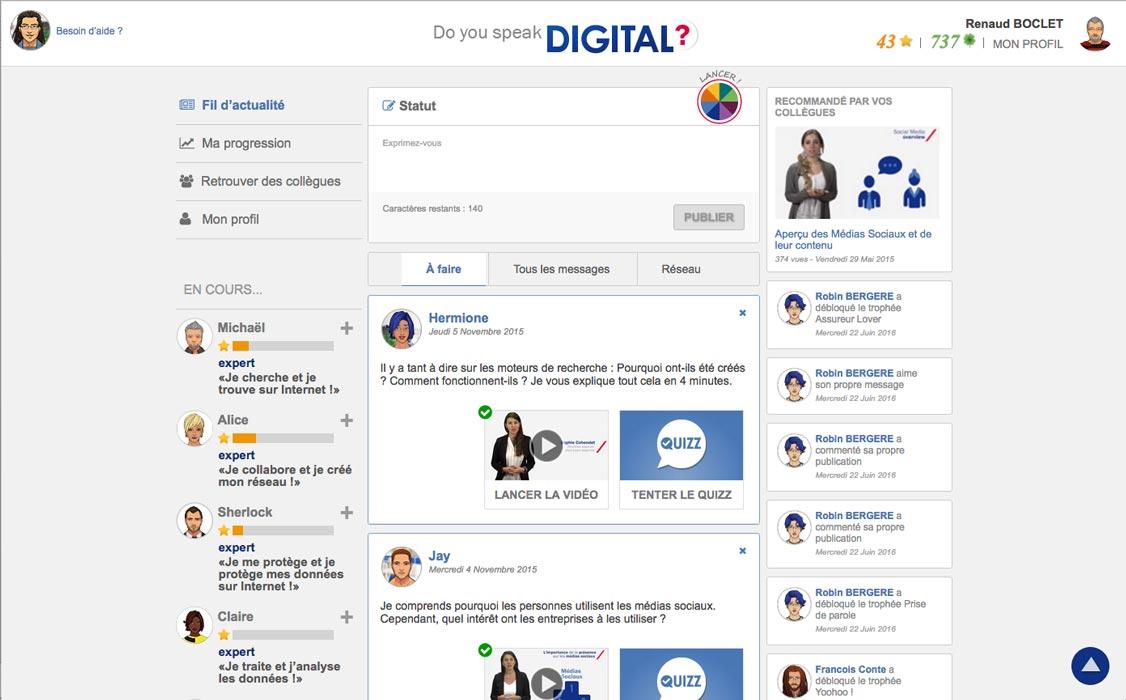 Page d'accueil de DYSD