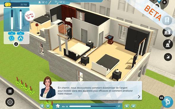 Interface de Smartn, outil de simulation d'objets connectés