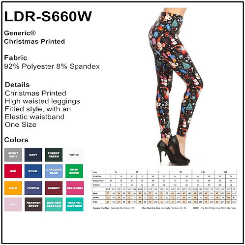 Christmas Printed Leggings - S660
