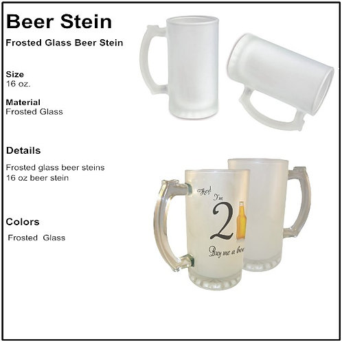 Personalize - Frosted Glass Beer Stein