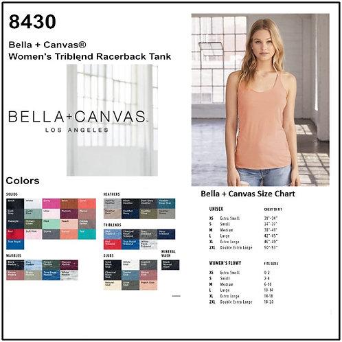Personalize -Bella Canvas 8430 - Women's Triblend Racerback Tank
