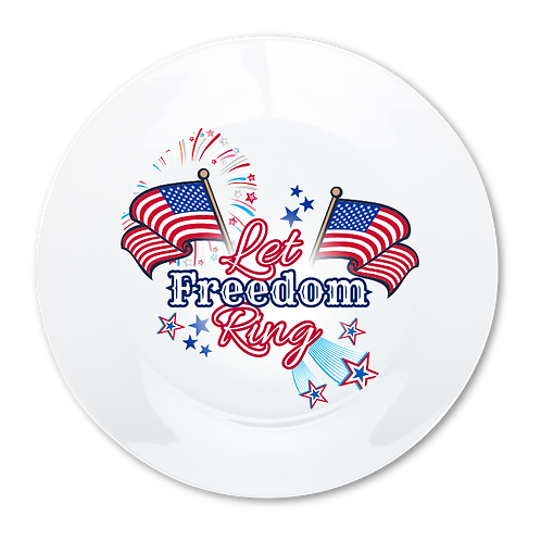 Let Freedom- Decorative Dinner Plate