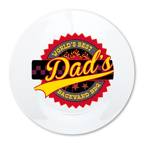 Dad's BBQ- Decorative Dinner Plate