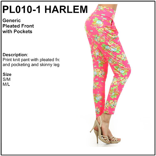 Pleated Front Skinny Leggings - PL010-1