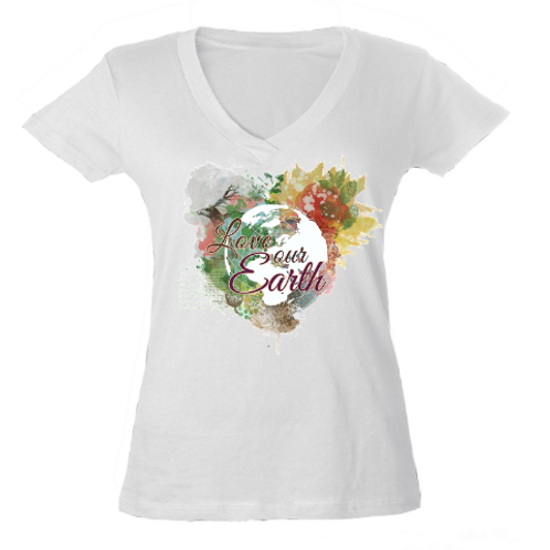 Love Our Earth - Ladies V-Neck Tee