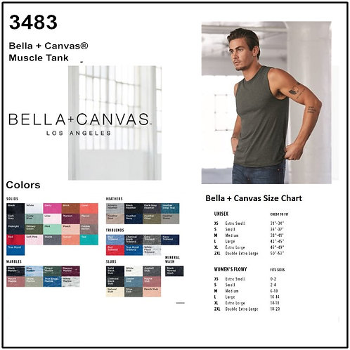 Personalize -Bella Canvas 3483 - Unisex Jersey Muscle Tank