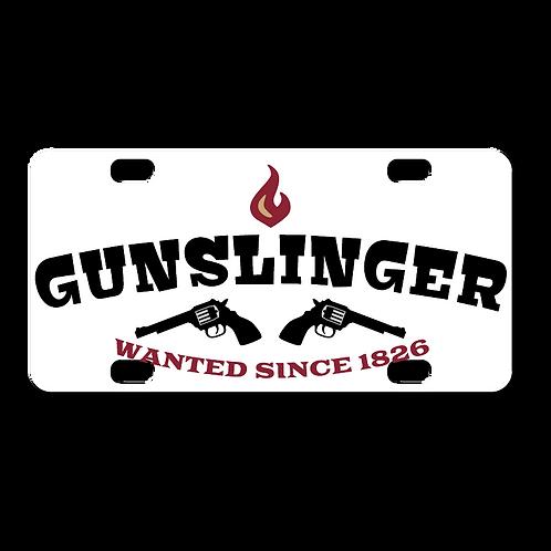 Gunslinger License Plate