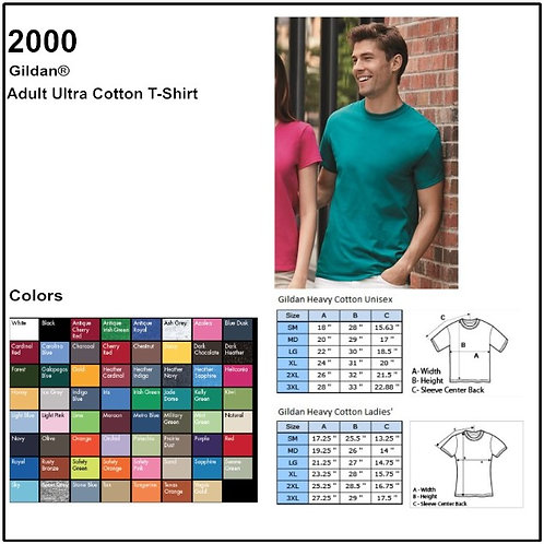 Personalize -Gildan 2000 - Adult Ultra Cotton T-Shirt