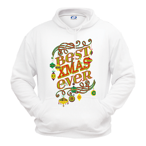 Gildan 18500- Christmas Holidays- Fleece Sweatshirt Hoodie- White
