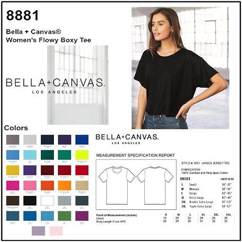 Personalize -Bella+Canvas 8881 - Women's Flowy Boxy Short Sleeve Tee