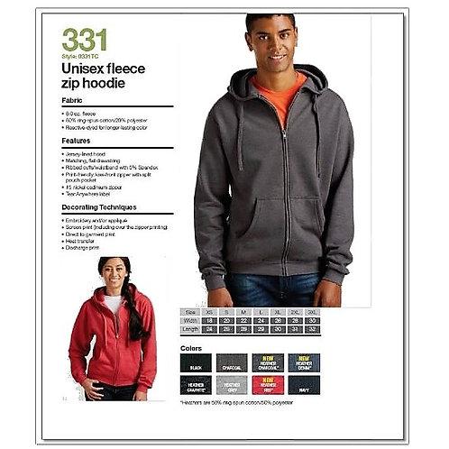 Personalize -Tultex 331 - Unisex Fleece Zip Hoodie