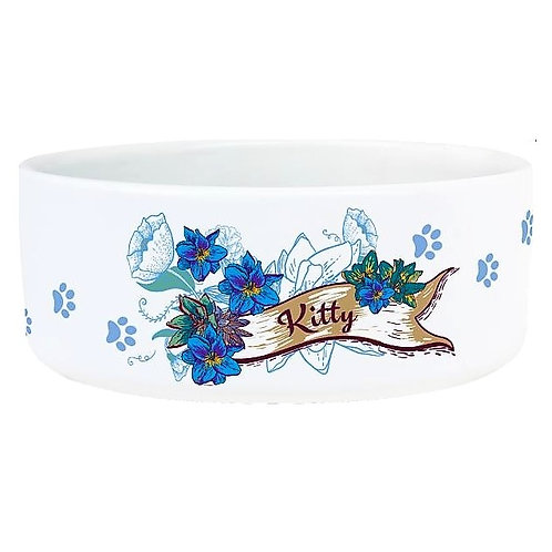 Pet Ceramic Sublimation Bowl- Personalize- Cats