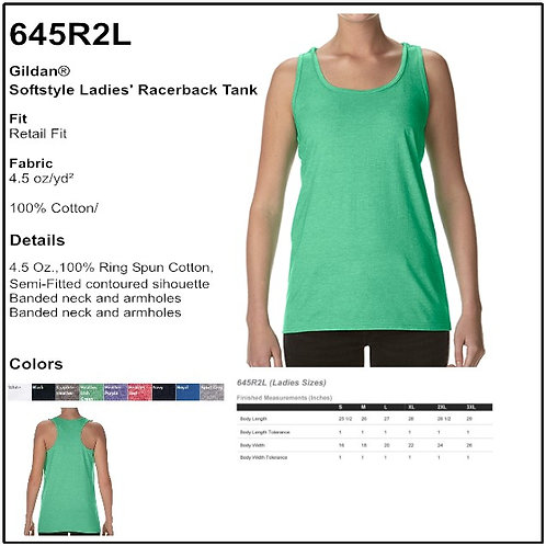 Personalize - Gildan 645R2L - Softstyle Ladies' Racerback Tank