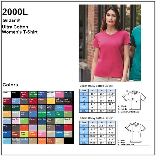 Personalize -Gildan 2000L - Ultra Cotton Ladies' Classic Fit T-Shirt