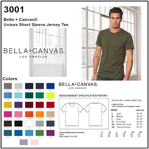 Personalize -Bella+Canvas 3001 - Unisex Short Sleeve Jersey Tee