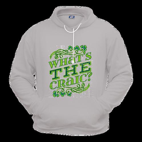 Gildan 18500- Saint Patrick's Day- Fleece Sweatshirt Hoodie- Grey