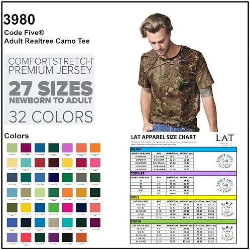 Personalize -Code Five 3980 - REALTREE Camouflage Short Sleeve T-Shirt