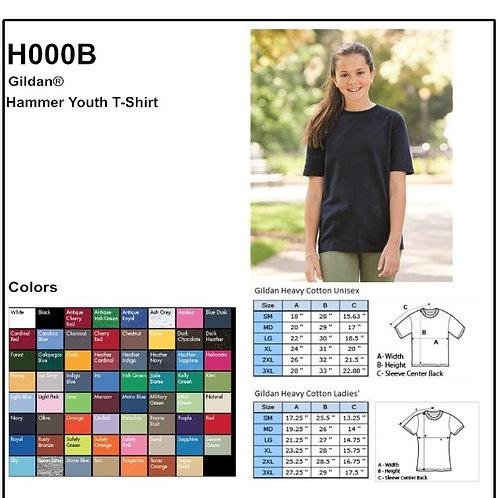 Personalize -Gildan H000B - Hammer Youth T-Shirt
