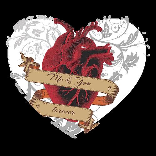 Me & You Forever - Heart Mousepad