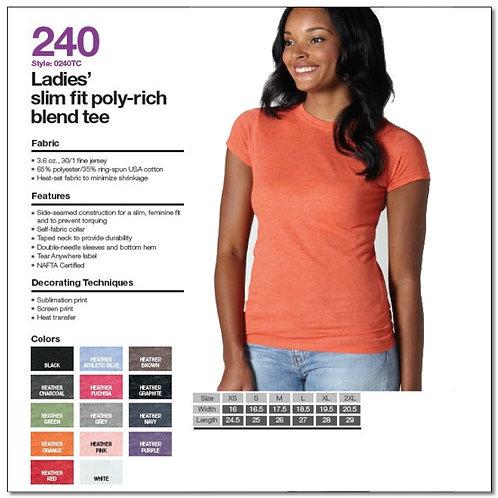 Tultex 240 - Ladies' Poly-Rich Blend T-Shirt
