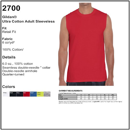 Personalize - Gildan 2700 - Ultra Cotton Sleeveless T-Shirt