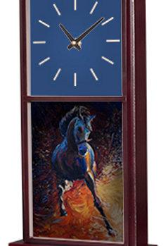 "UN5756 - 6.75"" x 15.5"" Mahogany Vertical Mantle Clock Kit with Sublimatable Tiles"