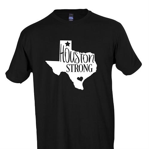 Tultex 241- Black - Houston Strong- Hurricane Harvey Support