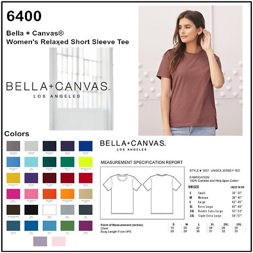 Personalize -Bella Canvas 6400 - Relaxed Jersey Short Sleeve Tee