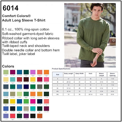 Personalize -Comfort Colors 6014 - Adult Long Sleeve T-Shirt