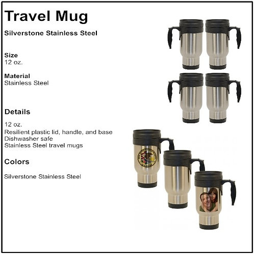 Personalize - Stainless Steel Travel Mug (12 oz)