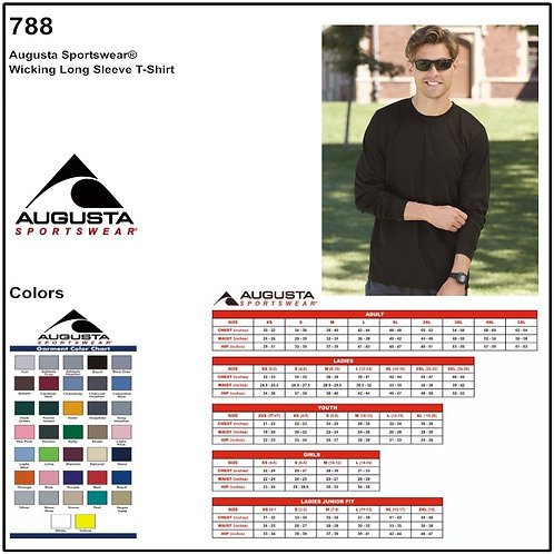 Personalize -Augusta 788 - Wicking Long Sleeve T-Shirt