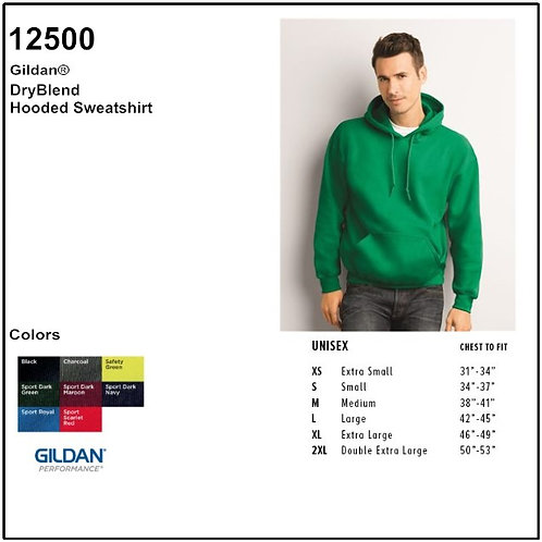 Personalize -Gildan 12500 - DryBlend Adult Hooded Sweatshirt