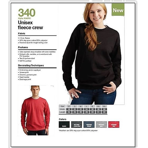 Tultex 340 - Unisex Fleece Crew