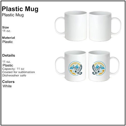 Personalize - White Plastic Coffee Mugs