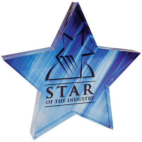 """Sublimatable Star Acrylic Paperweight (5""""x5"""")"""