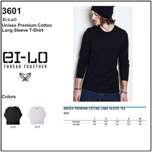 Personalize -Ei-Lo 3601 - Unisex Premium Cotton Long Sleeve T-Shirt