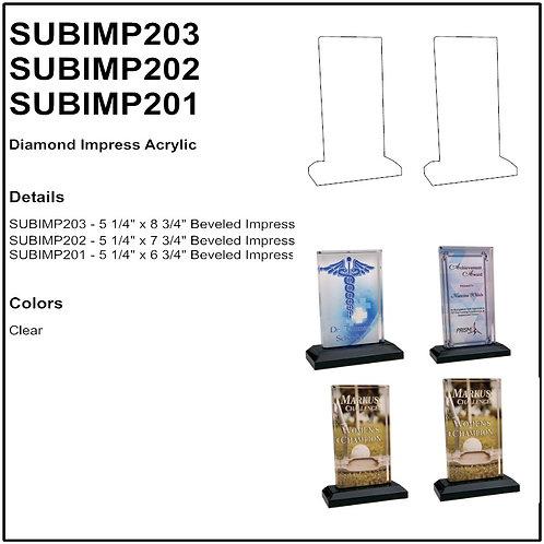 """SUBIMP201 - 5"""" x 6"""" Sublimatable Beveled Impress Acrylic"""