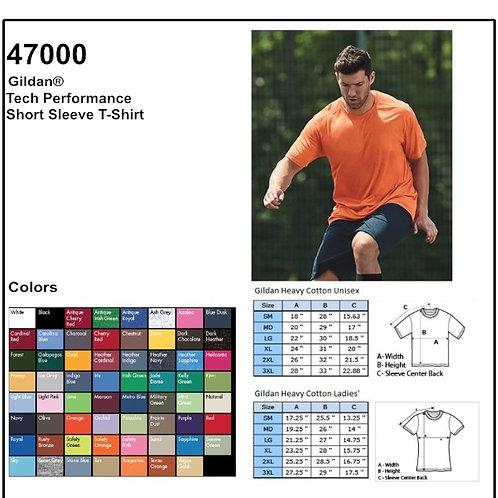 Personalize -Gildan 47000 - Performance Adult Tech T-Shirt
