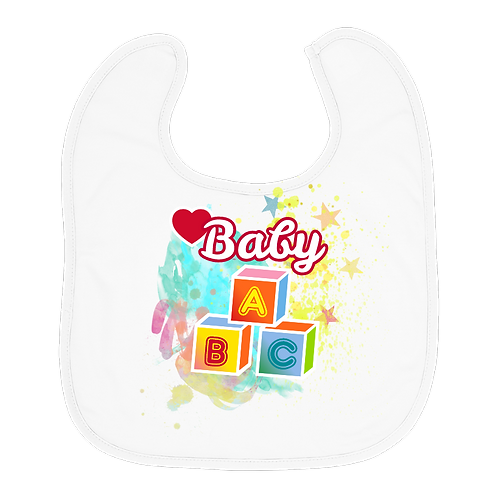 ABC Fleece Baby Bib