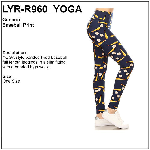 Baseball Printed Leggings - LYR-R960