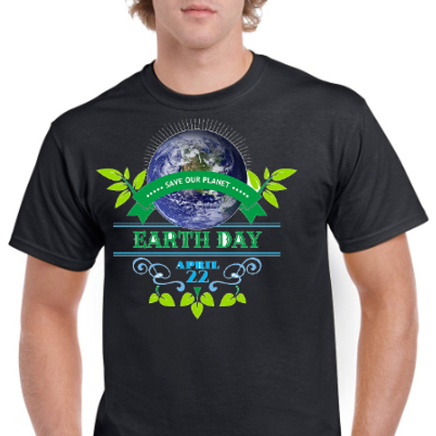 Save Our Planet- Earth Day Tee- Black