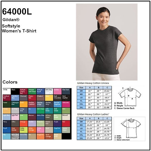 Personalize -Gildan 64000L - Ladies' Softstyle T-Shirt