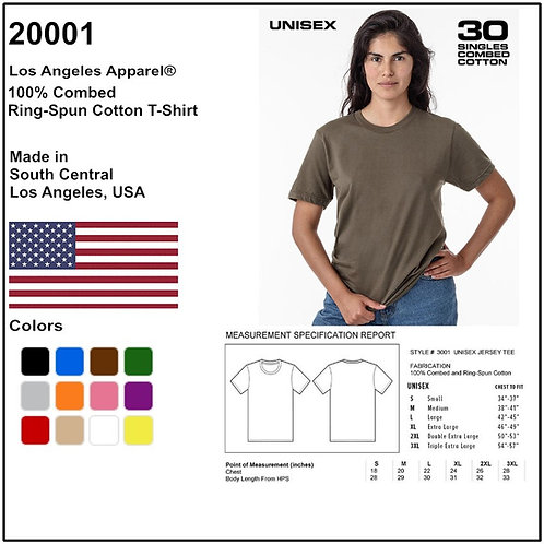 Personalize -Los Angeles Apparel 20001 - Ring-Spun Cotton T-Shirt