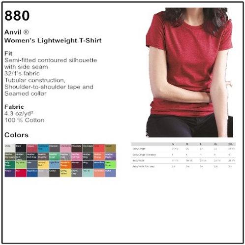 Personalize Anvil 880 - Women's Lightweight Tee