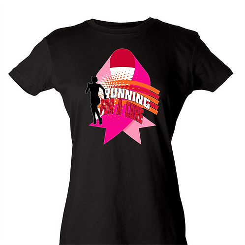 Tultex 213 - Ladies' Fine Jersey T-Shirt- Running for a Cure