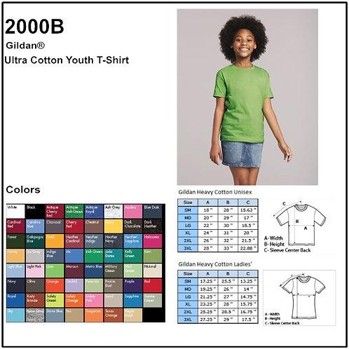 Personalize -Gildan 2000B - Youth Ultra Cotton T-Shirt
