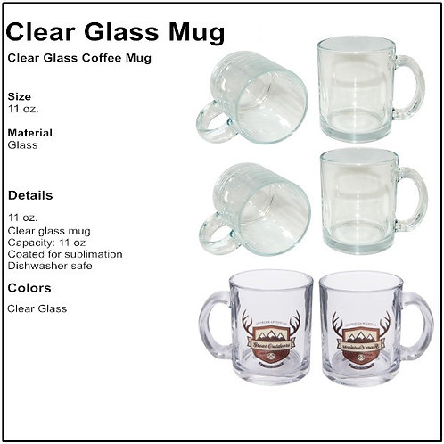 Personalize Clear Glass Coffee Mug