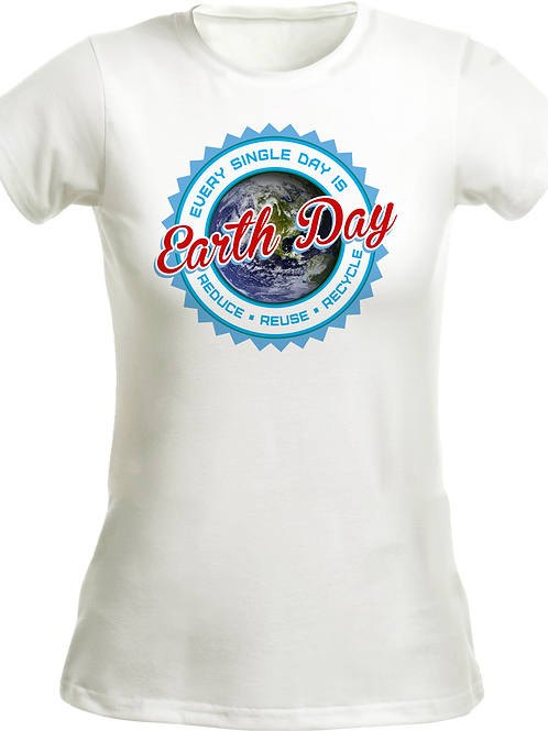 Tultex 213 Slimfit - Earth Day T Shirt